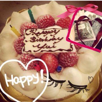 お祝いしてもらいました*\(^o^)/*〜yui〜