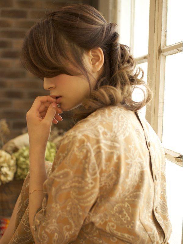 ALLねじりで作る簡単ルーズなサイドダウンアレンジスタイル☆