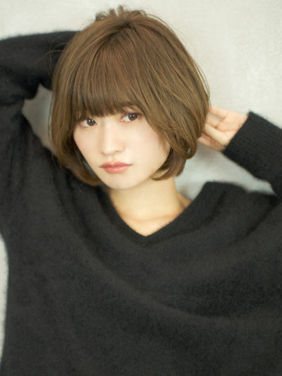 大人可愛い、ひし形美シルエットショートボブ☆