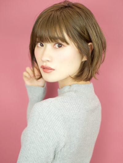 可愛さアップなひし形シルエットのエアリーショート☆