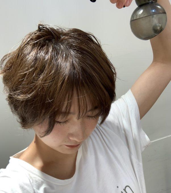 簡単ショートヘアスタイリング