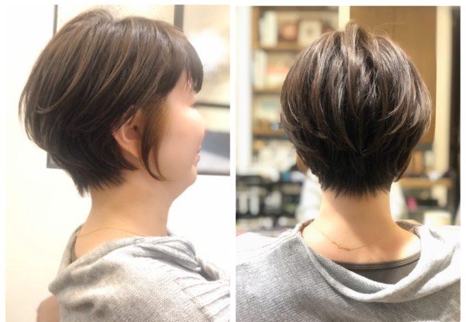 後頭部のボリューム感も簡単な大人ショートボブ😚  (30代、40代、50代ヘアカタログ)