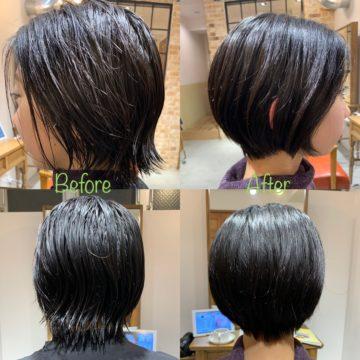 サロンスタイル before &after大人ショートスタイリングが苦手な方にオススメショート!20代 30代 40代ショートヘア