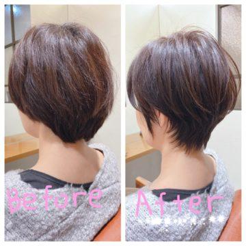 スタイリングが苦手な方にオススメ✨40代50代、大人女性のショートヘア