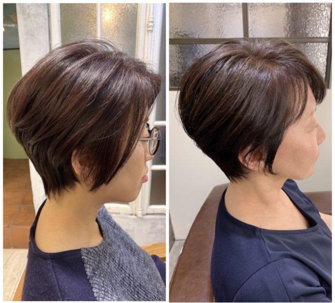 髪にボリュームが出ない30代、40代、50代大人女性のショートヘアスタイリングのポイント❗️😙SHOKO ver