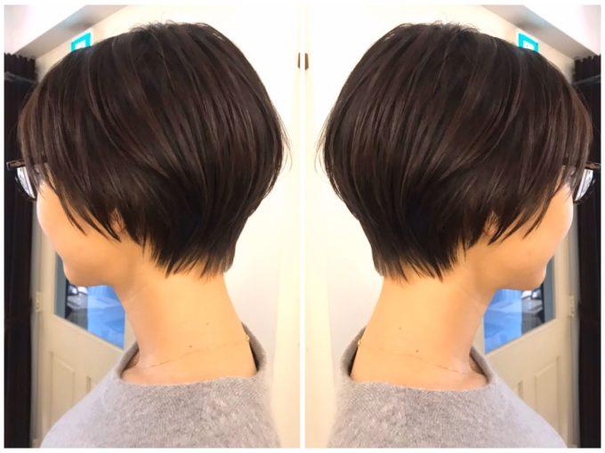 髪のボリュームが出ない、30代、40代、カットで作る丸みショート😋🌟 Chisa ver.
