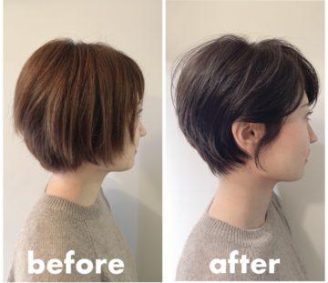広がりやすい髪質の20代、30代、40代 大人女性のスッキリ見えるショートヘア SHOKO ver🤗❣️