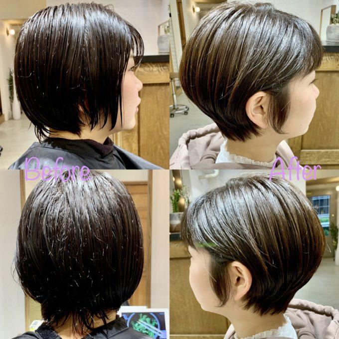 サロンスタイル before &after大人ショート スタイリングが苦手な方にオススメショート!30代 40代 50代 ショートヘア