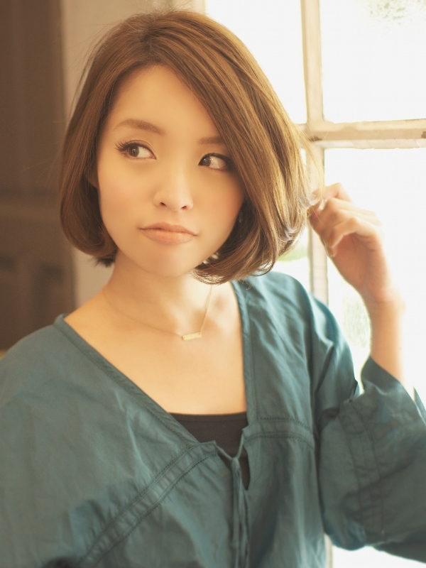 ひし形フォルムの大人可愛いおすすめバルーンボブ☆